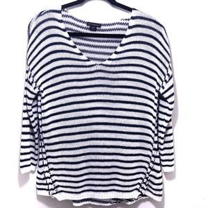 Metaphor | Navy Blue/White Sweater Size Large